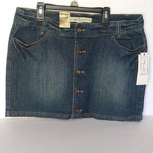 Miniskirt  jean ecko red